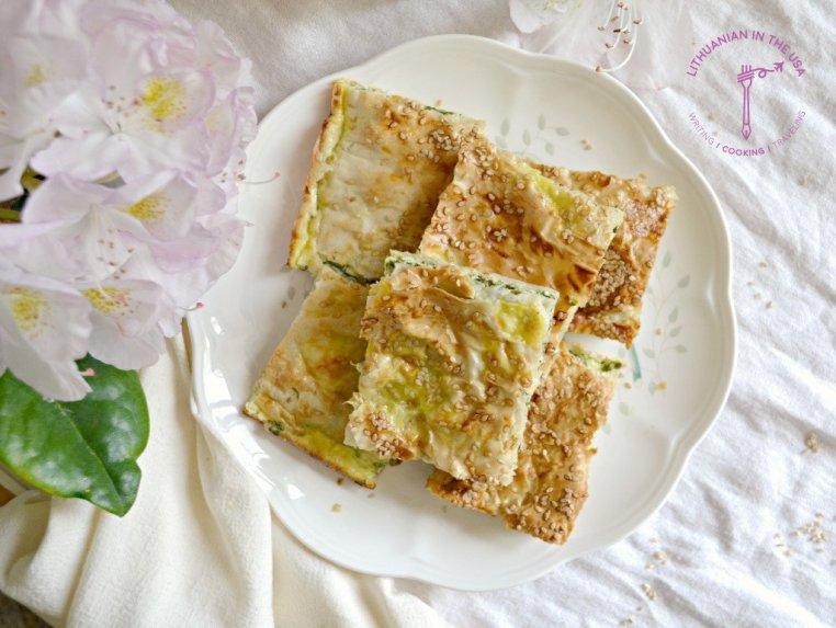 Turkiškas borekas su sūriu ir špinatais