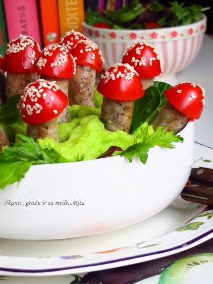 Dešrelių musmirės su bulvių koše