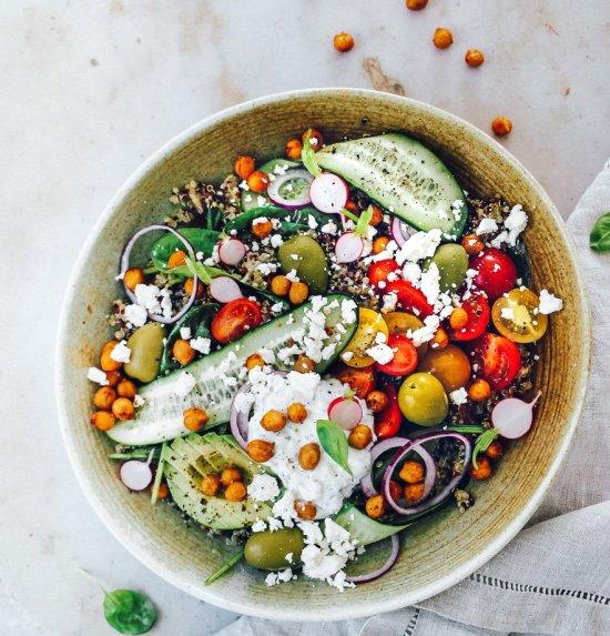 Graikišos salotos su bolivine balanda