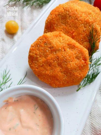 Tuno ir saldžių bulvių kepsneliai