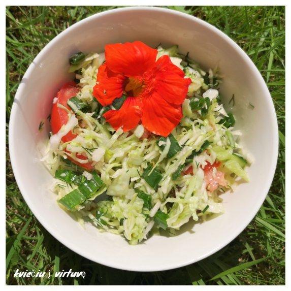 Gaivios šviežių kopūstų salotos