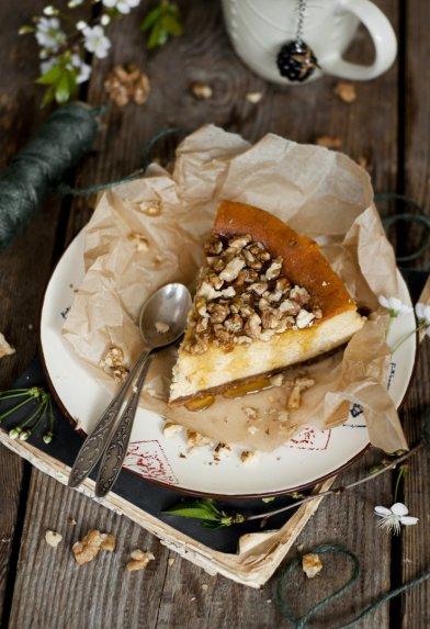 Sūrio tortas pyragas su moliūgais