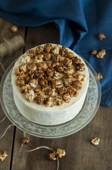 Karamelinis maskarponės tortas