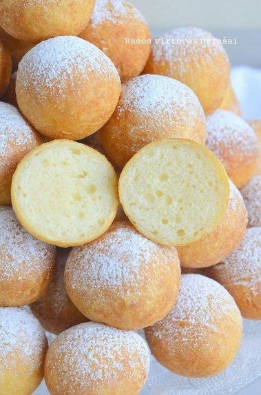 Purios varškės spurgos pagal Rasą