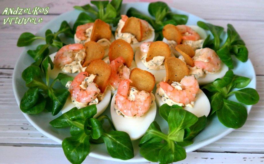 Kiaušinių užkandėlė su sūreliu (be majonezo)