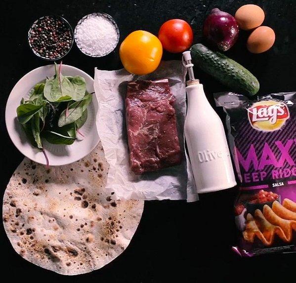 Naminiai kebabai su Lay's traškučiais ir naminuose pagaminti majonezu