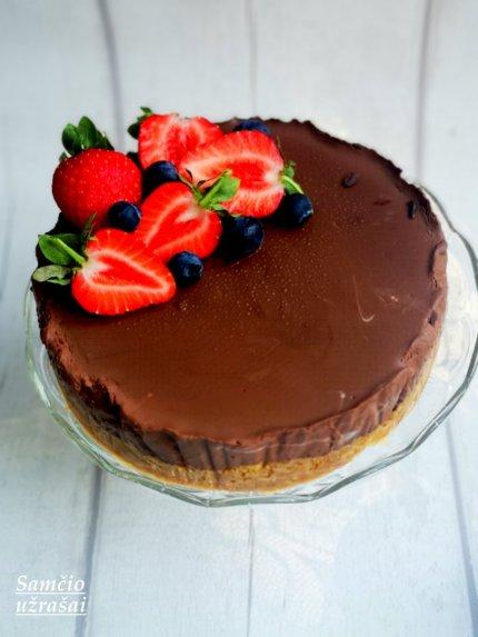 Tinginių šokoladinis maskarponės tortas