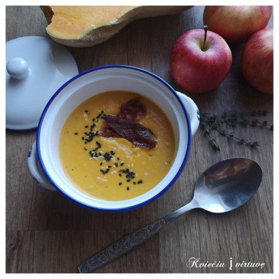 Kreminė moliūgų-obuolių sriuba