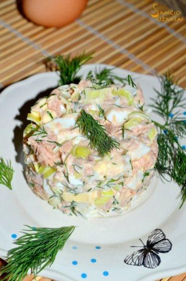 Tuno ir kiaušinių salotos