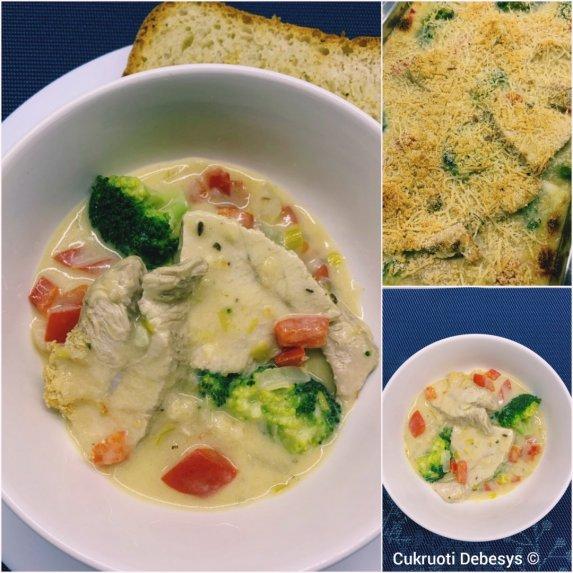Kalakutienos ir brokolių apkepas