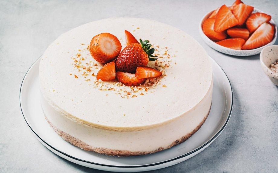Veganiškas sūrio pyragas