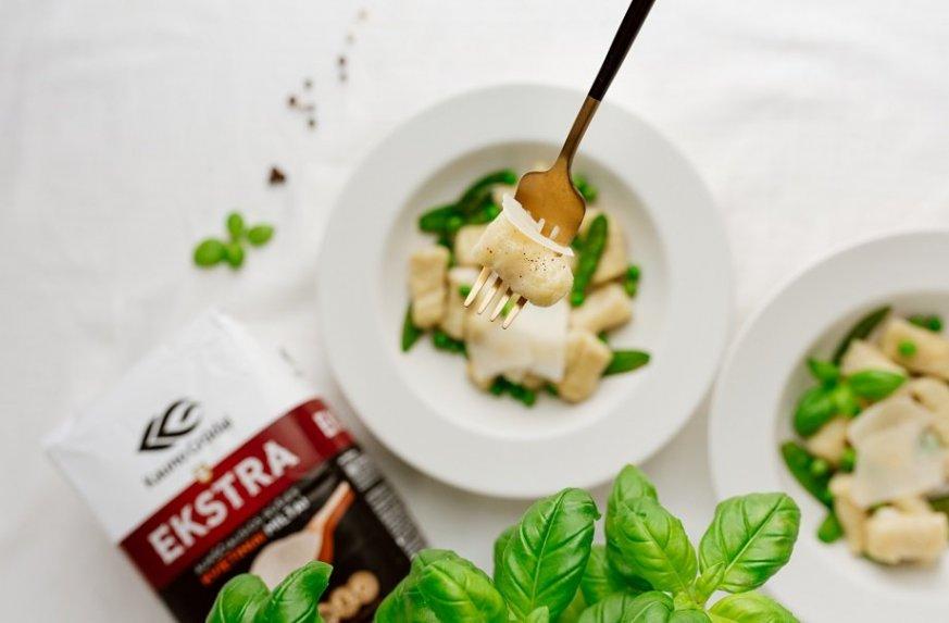 Gnocchi su sezoninėmis daržovėmis