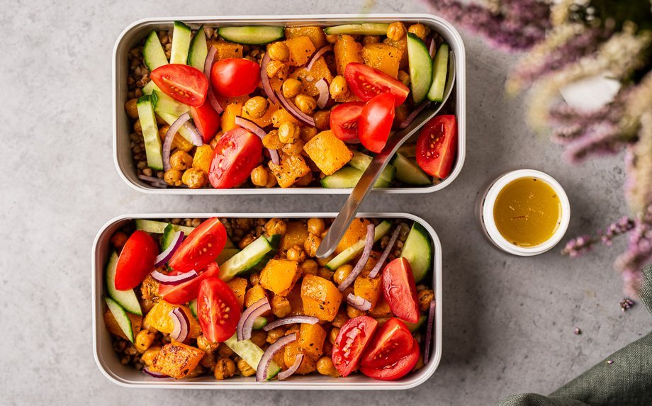Grikių salotos su moliūgais